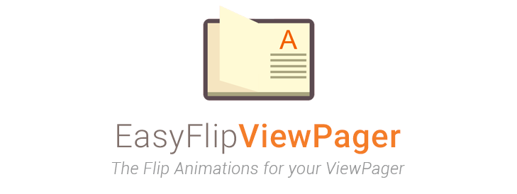 The logo of [EasyFlipViewPager](https://github.com/wajahatkarim3/EasyFlipViewPager) Android Library