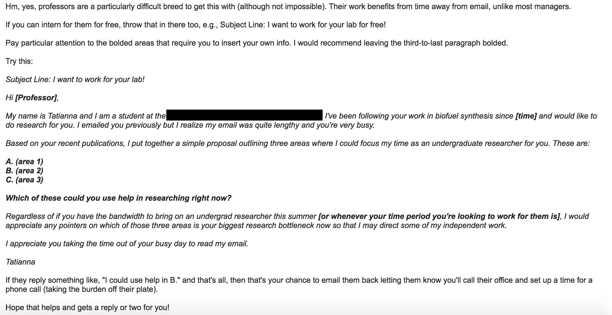 How to Use Email to Get a Job With a Professor – Age of Awareness