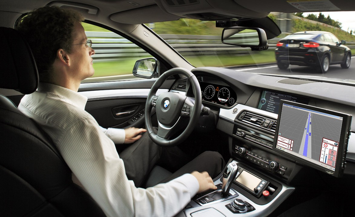 Automated cars being remotely hacked and held to ransom is one scenario that cybersecurity researchers are working on. Image credit: 'Driver free car' by BP63Vincent is licenced under CC BY-SA 3.0