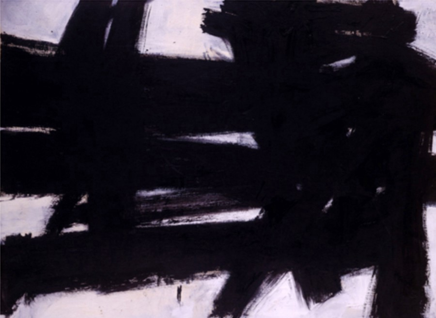 "A fake Franz Kline painting, ""Untitled"", ended up in the Kemper Museum of Contemporary Art in Kansas City. Source: The New York Times Archive"