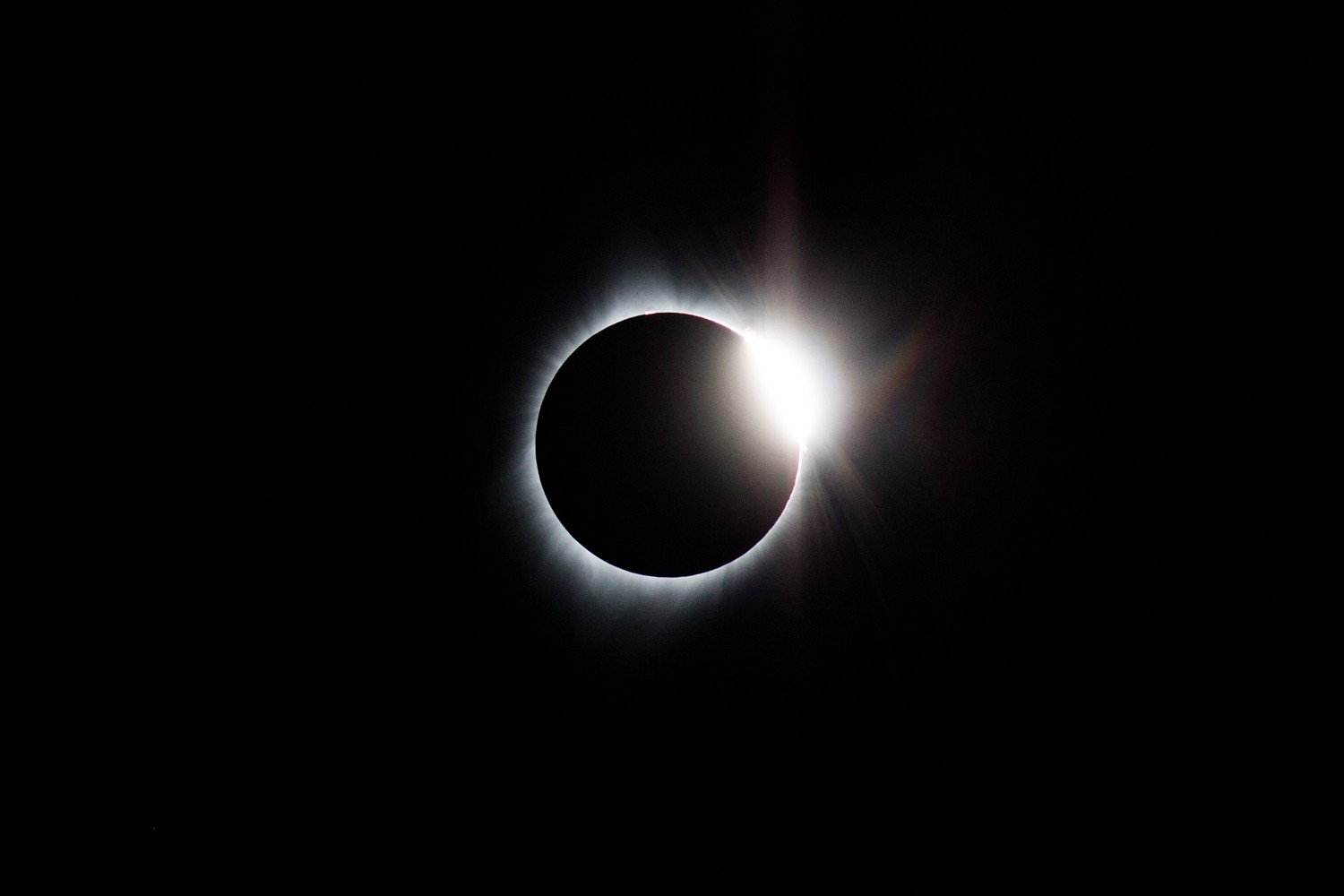 Diamond ring just when Totality ended. Time to put glasses pack on.