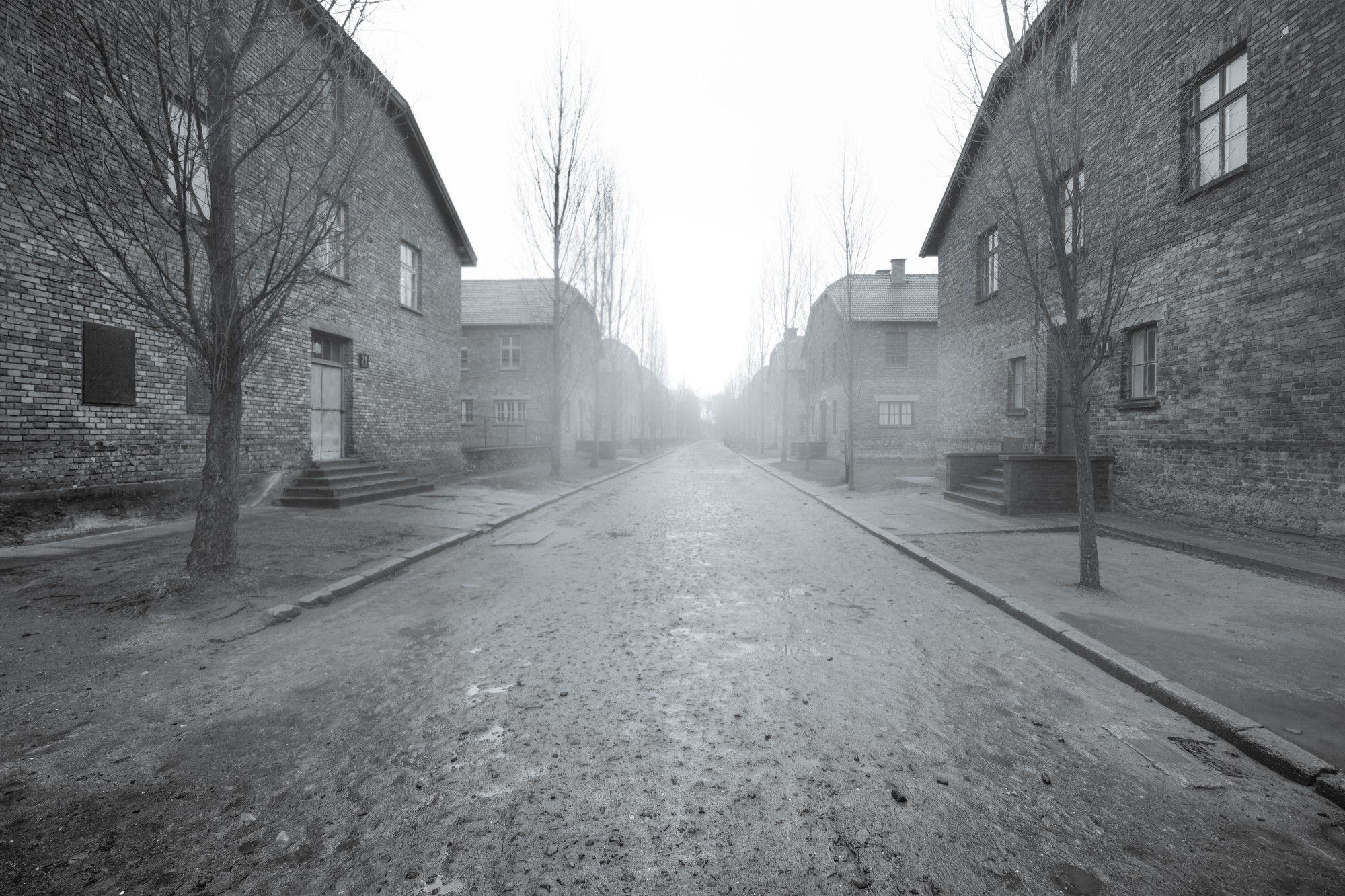 Living quarters and blocks at Auschwitz I.