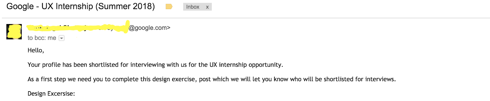4 months passed and when i had totally left any hope for the internship at google a reply hit my inbox on 3 january informing that my profile was
