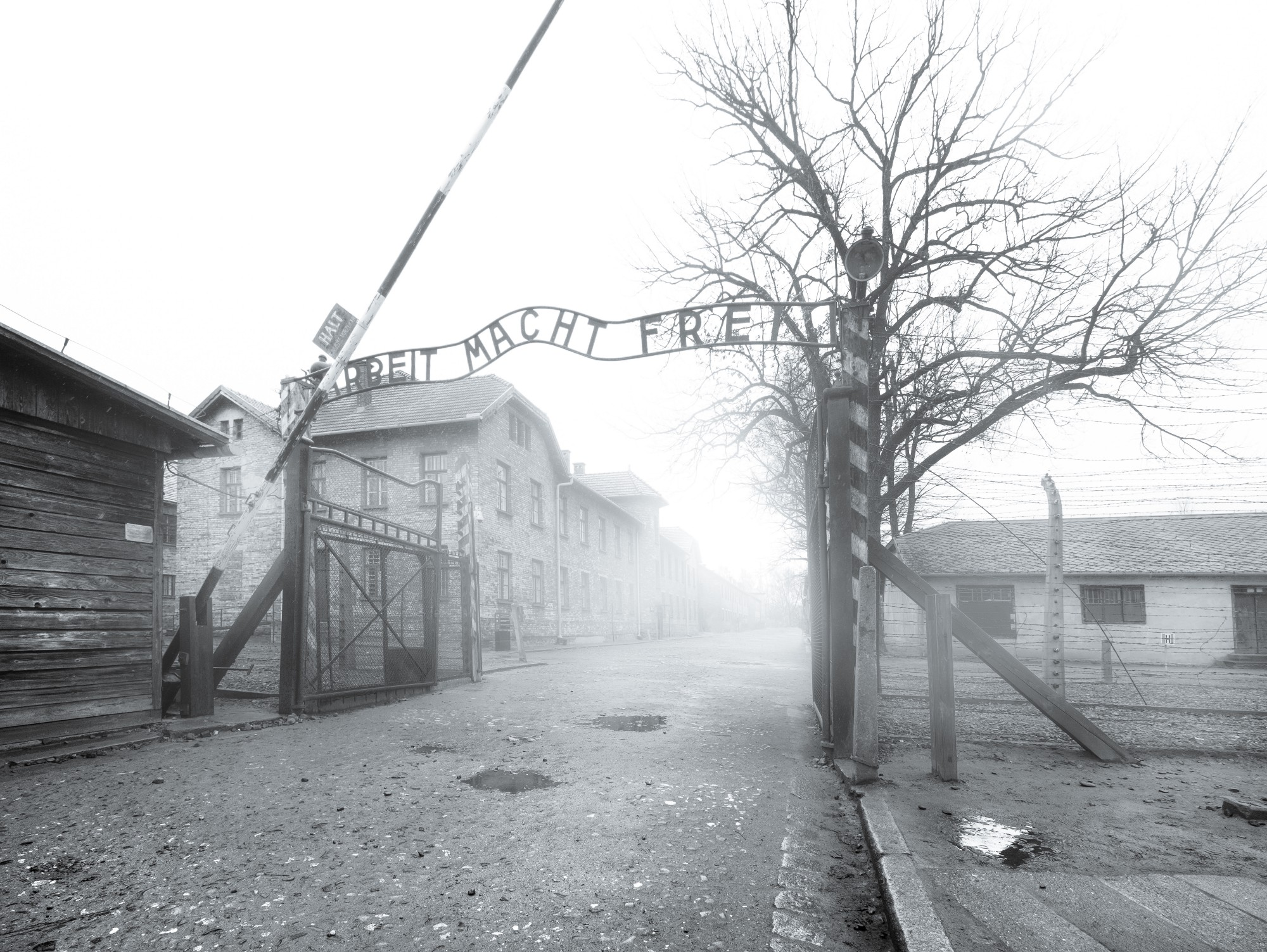 Arbeit Macht Frei - Work Will Set You Free - a sign you see as you enter Auschwitz.