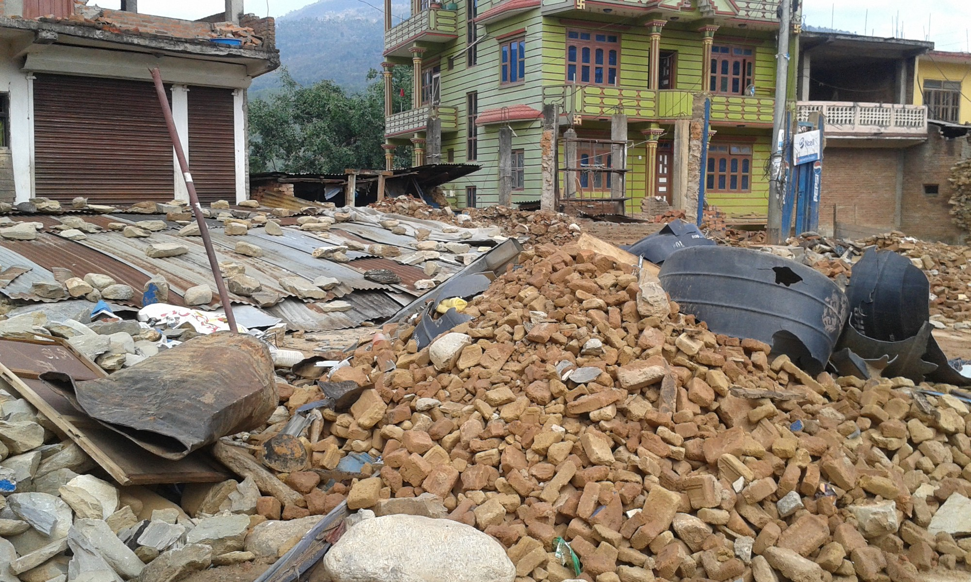 in a state of homelessness after the earthquakes in nuwakot