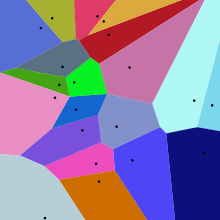 Voronoi diagram from Wikipedia