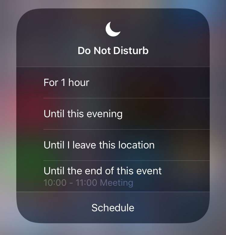 iOS devices now have more options for do not disturb