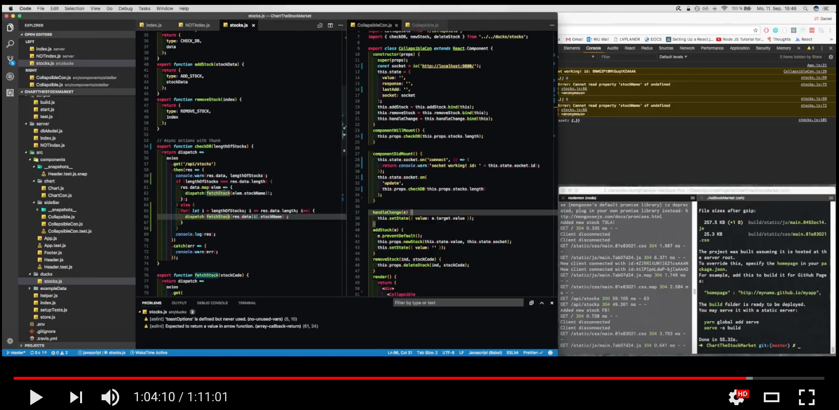 How i built an app that follows the stock market for a freecodecamp see the whole building process on youtube geenschuldenfo Image collections