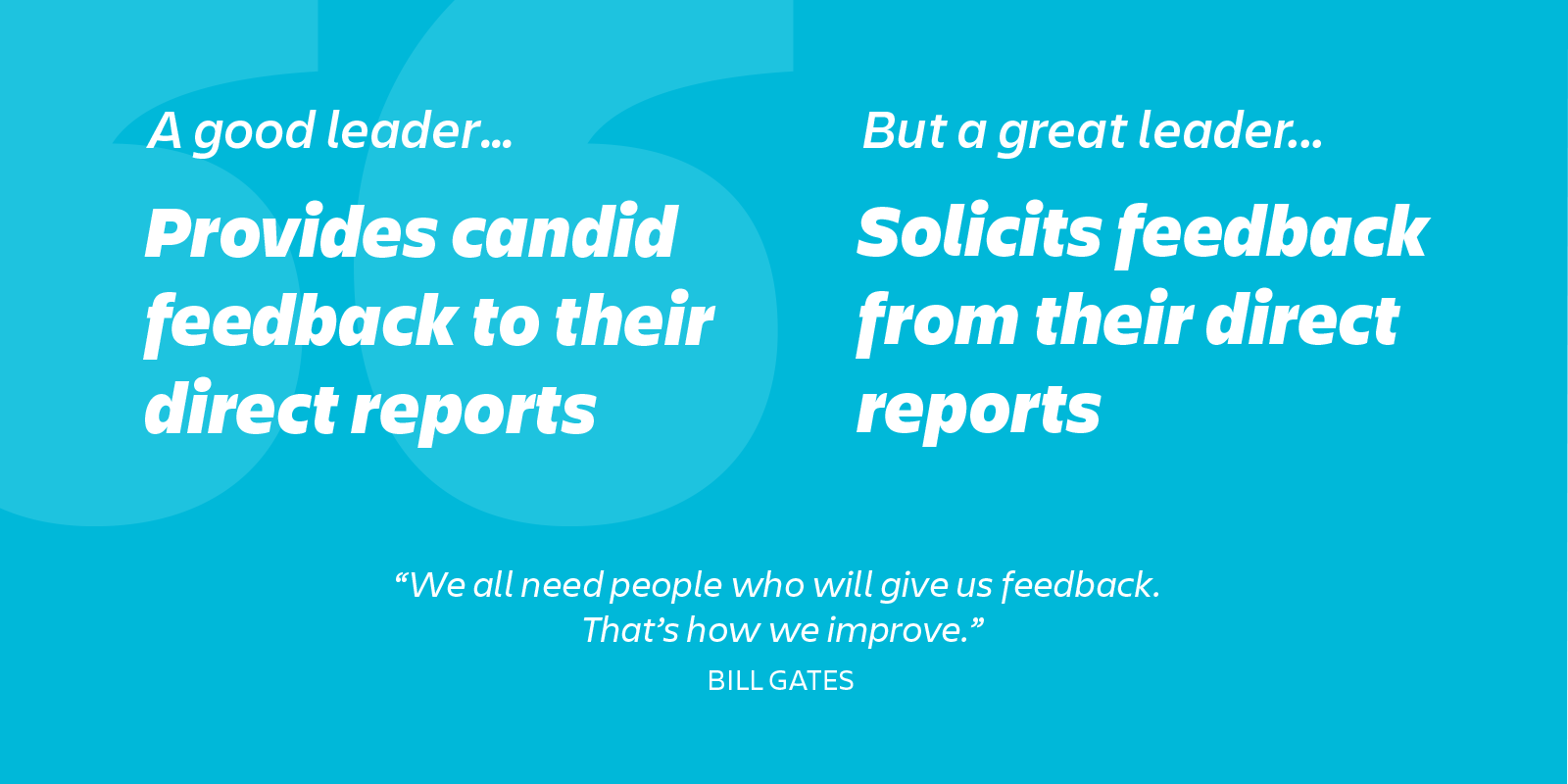 great leaders ask their people for feedback