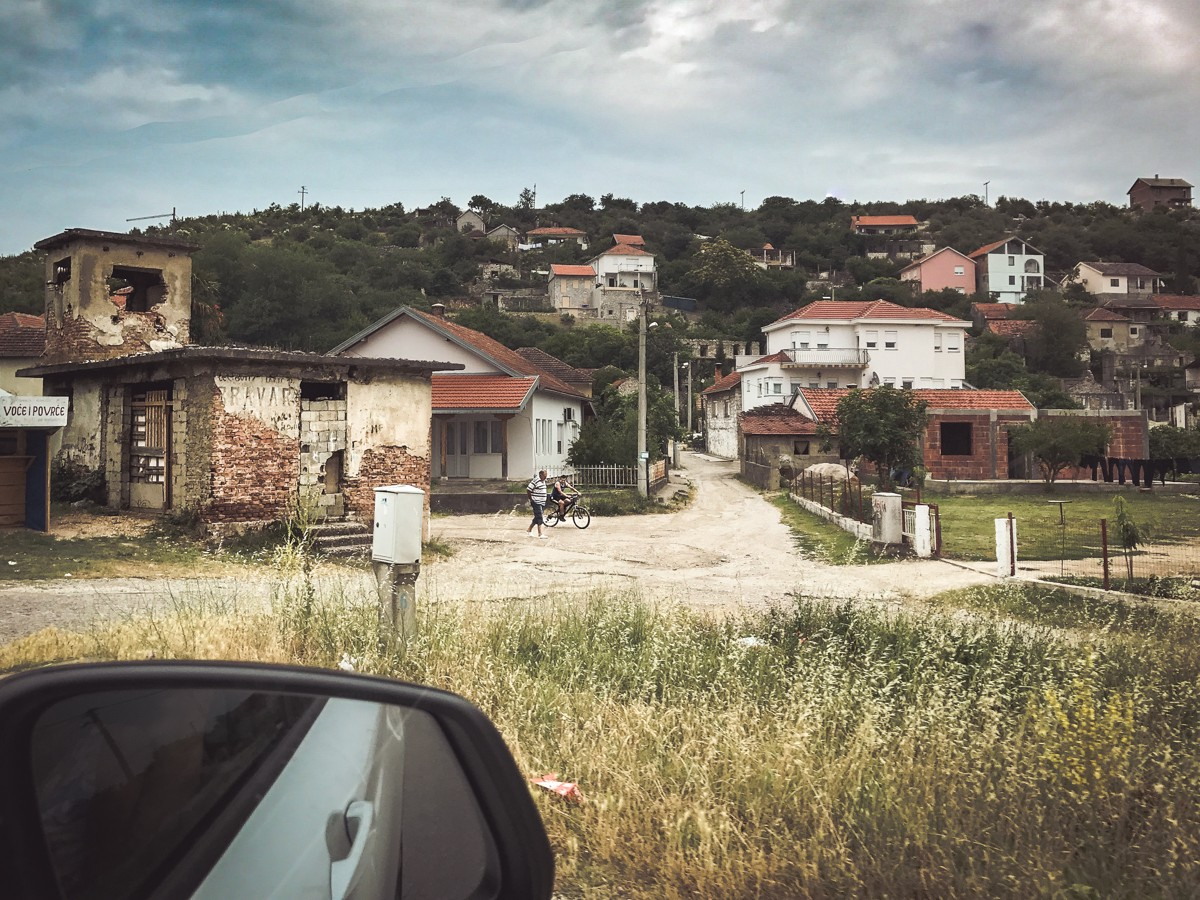The town of Capljina was one of the first towns we came across in Bosnia
