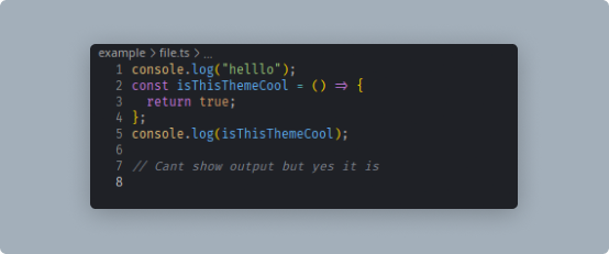 Code snippet — One for all darker