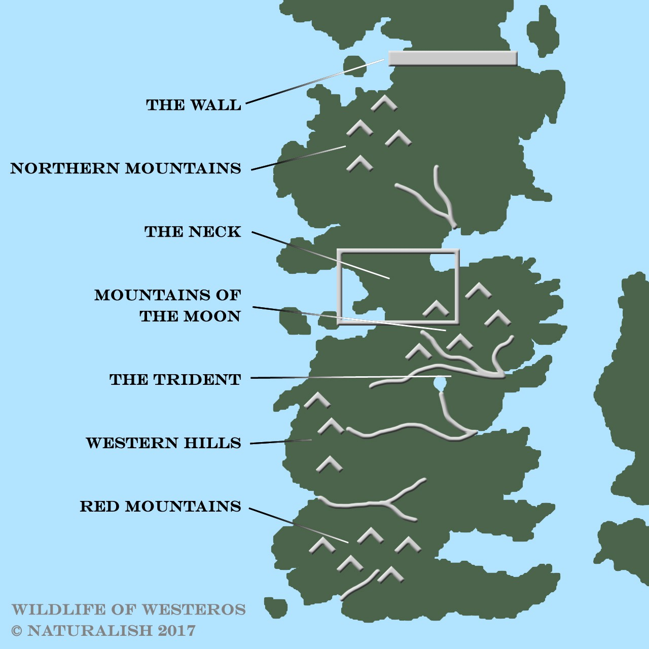 Wildlife westeros the animal kingdom in game of thrones largest geographic barriers in westeros i think gumiabroncs Choice Image