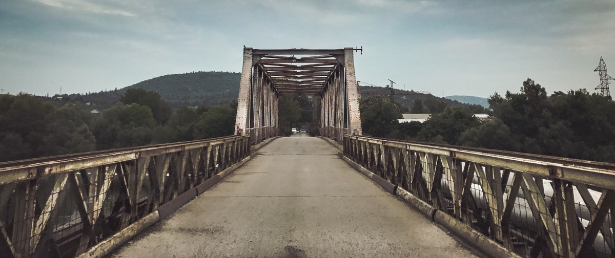 First Crossing into the country of Bosnia across the Neretva river