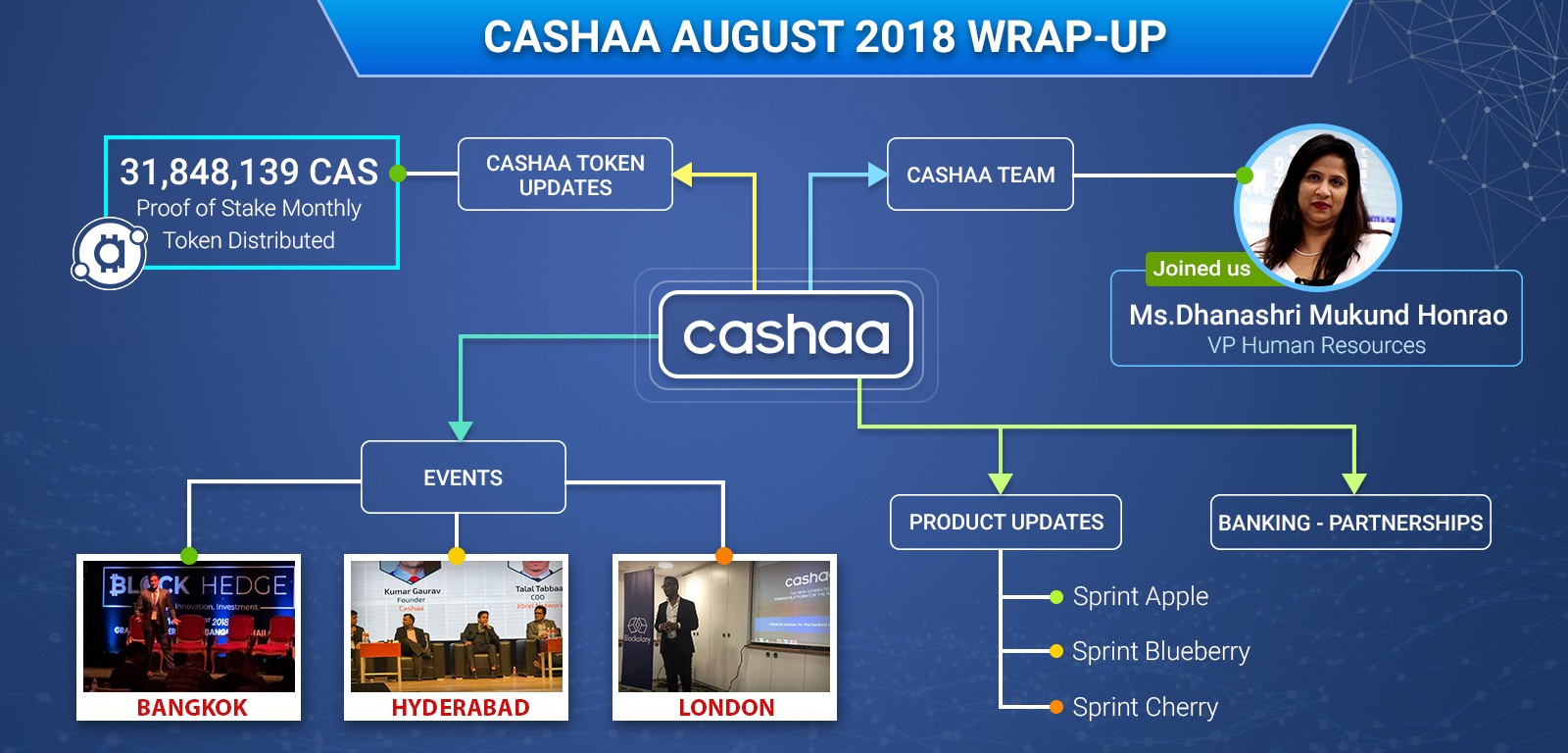 Cashaa Road Map and Cashaa August 2018 Recap