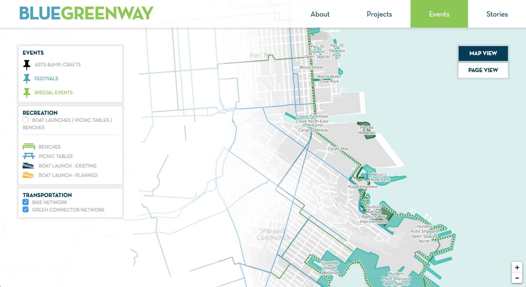 The Blue Greenway making maps of San Franciscos fastchanging