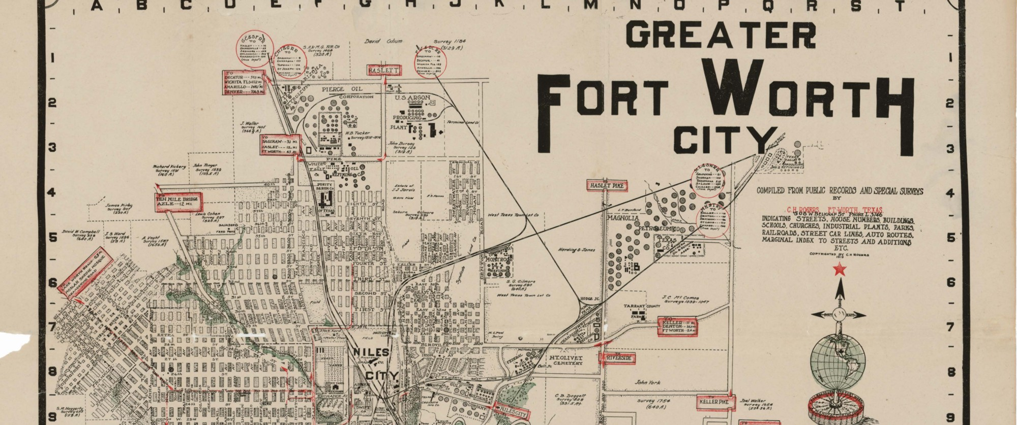 Greater Fort Worth City 1919 Save Texas History Medium