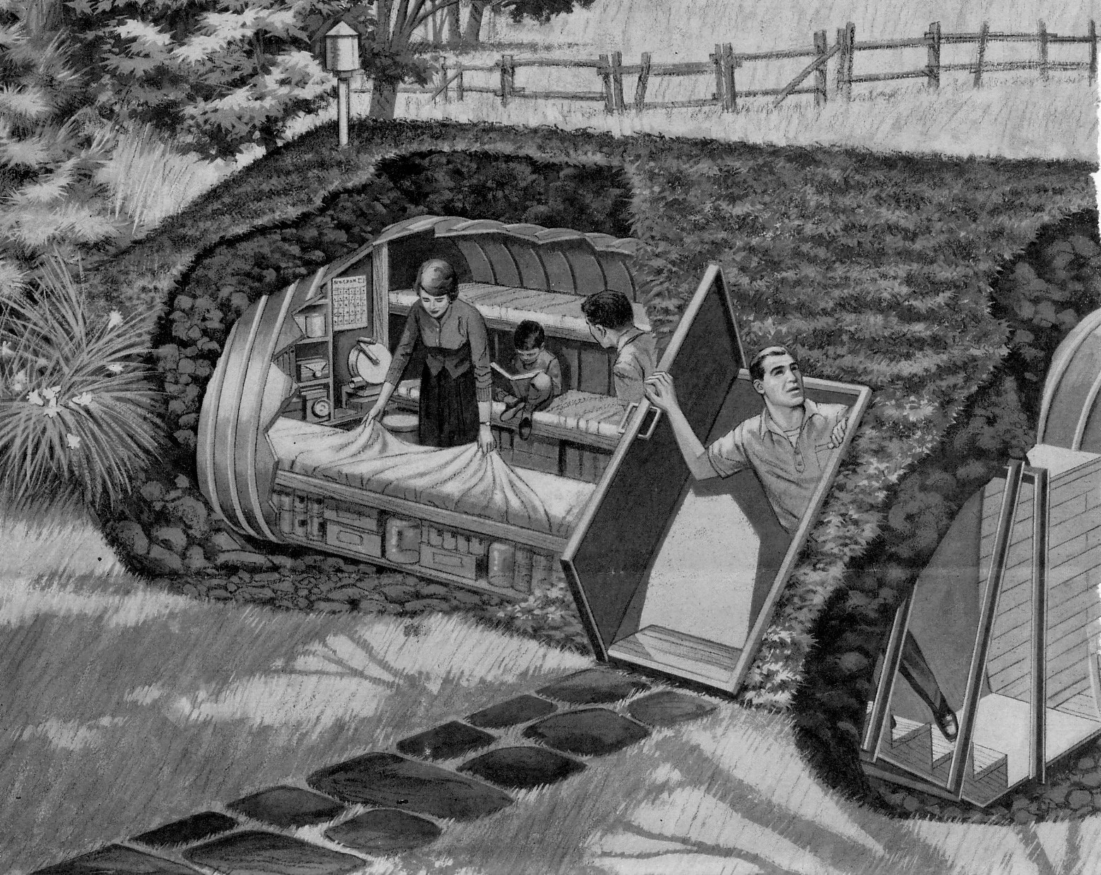 Backyard Fallout Shelter these pictures show how cozy fallout shelters were perfect for the