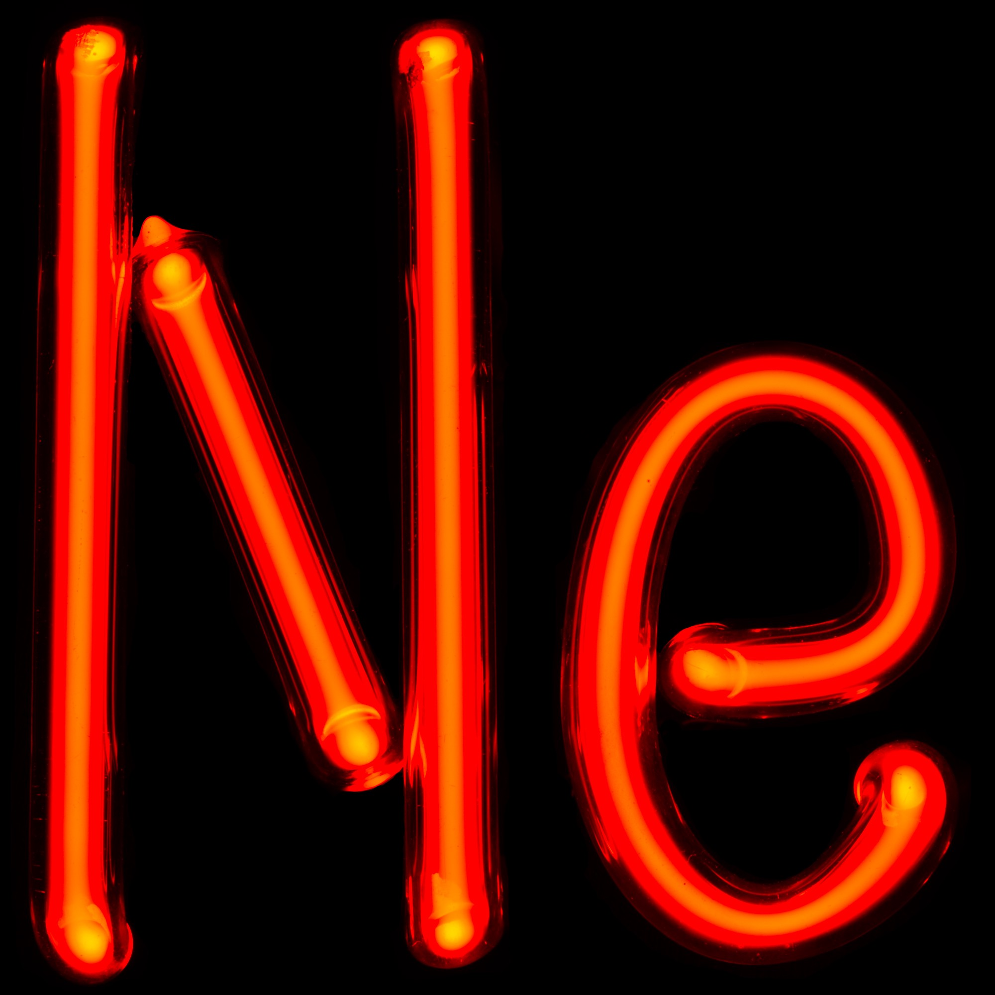 neon gas discharge lamps forming the symbol for neon ne credit pslawinski cc by sa 25