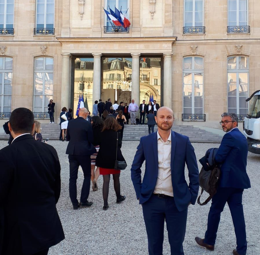 ARK CEO Francois Thoorens at the Elysee Palace on September 17th.