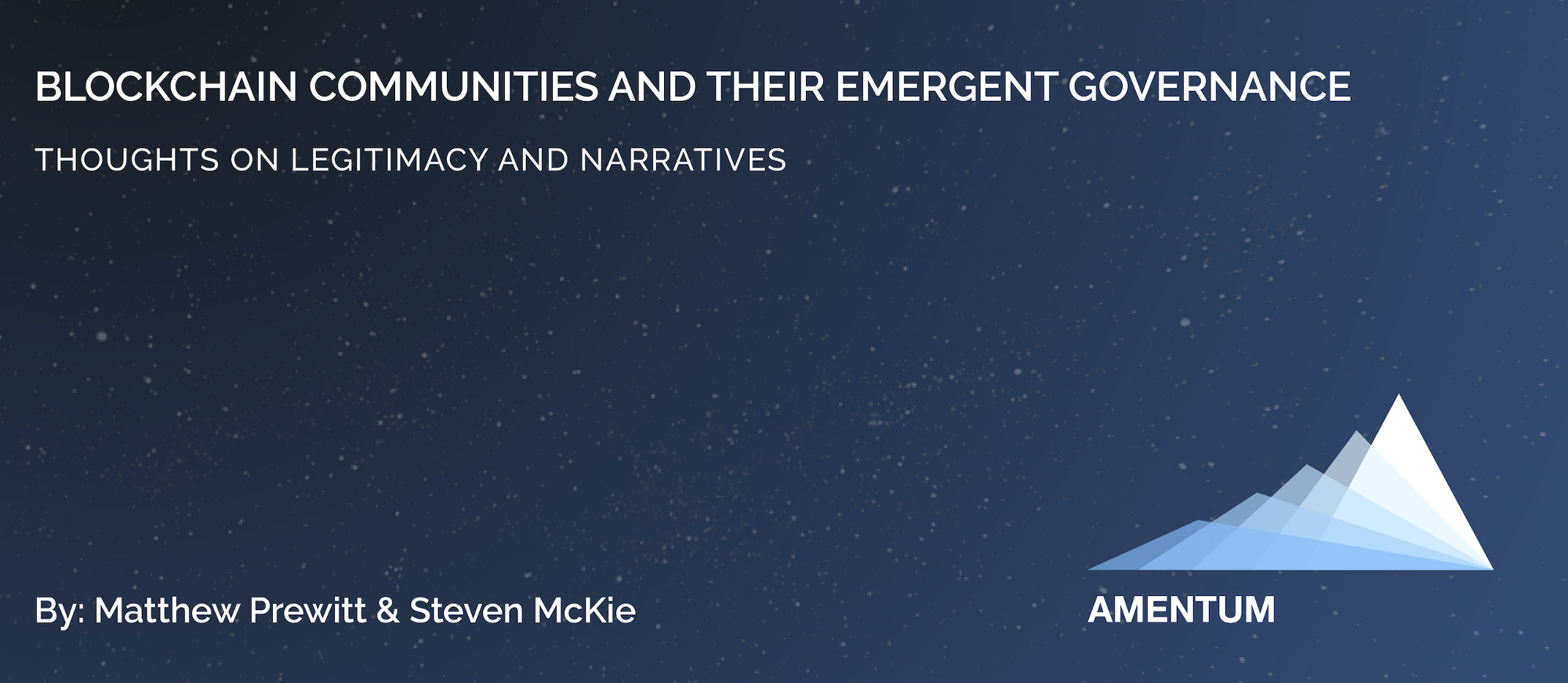 medium.com - Steven McKie - Blockchain Communities and Their Emergent Governance