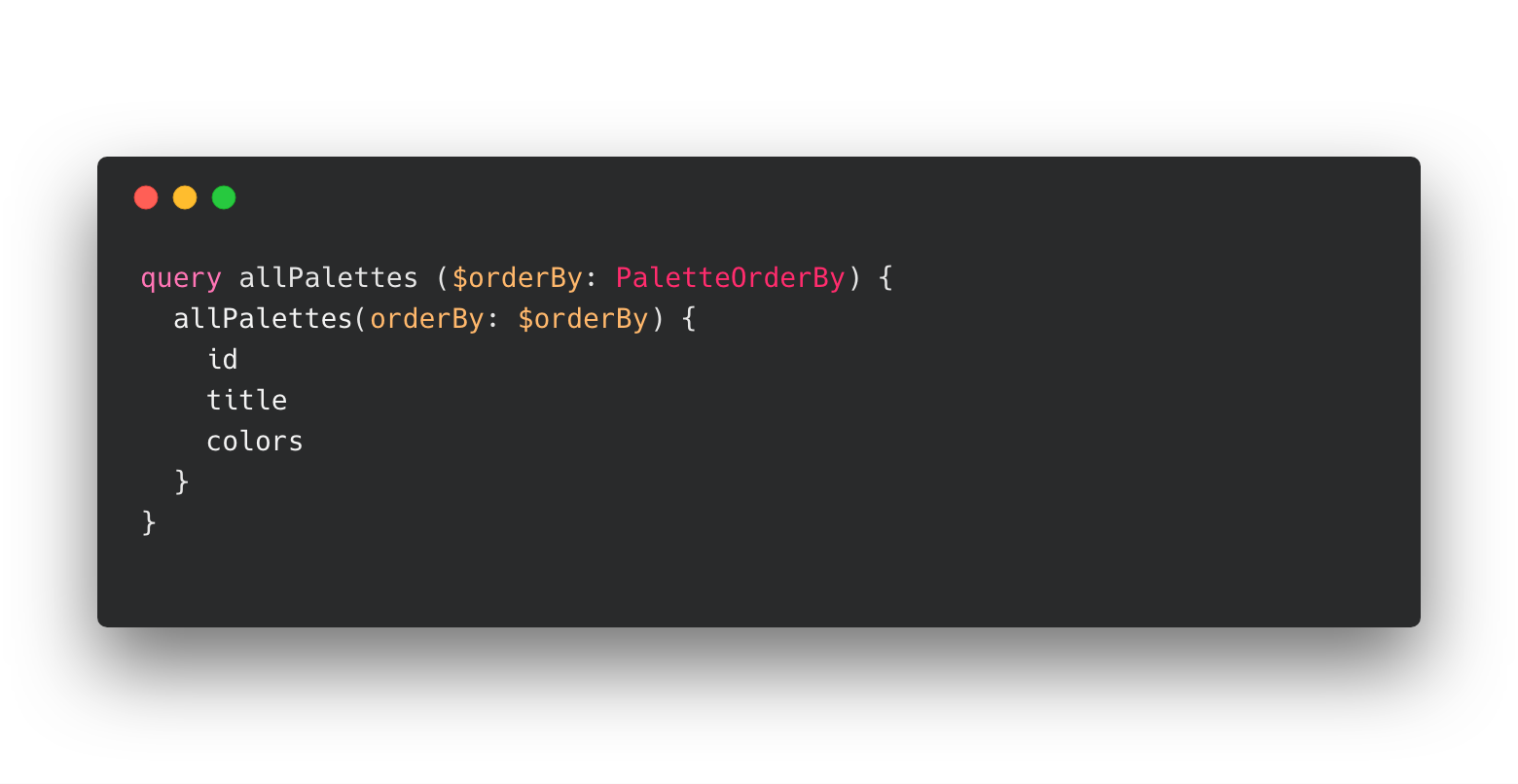 Colour Hunt example query