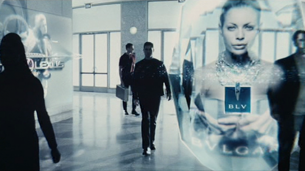 truly 121 advertising with a side of leather jackets and guns (Minority report)