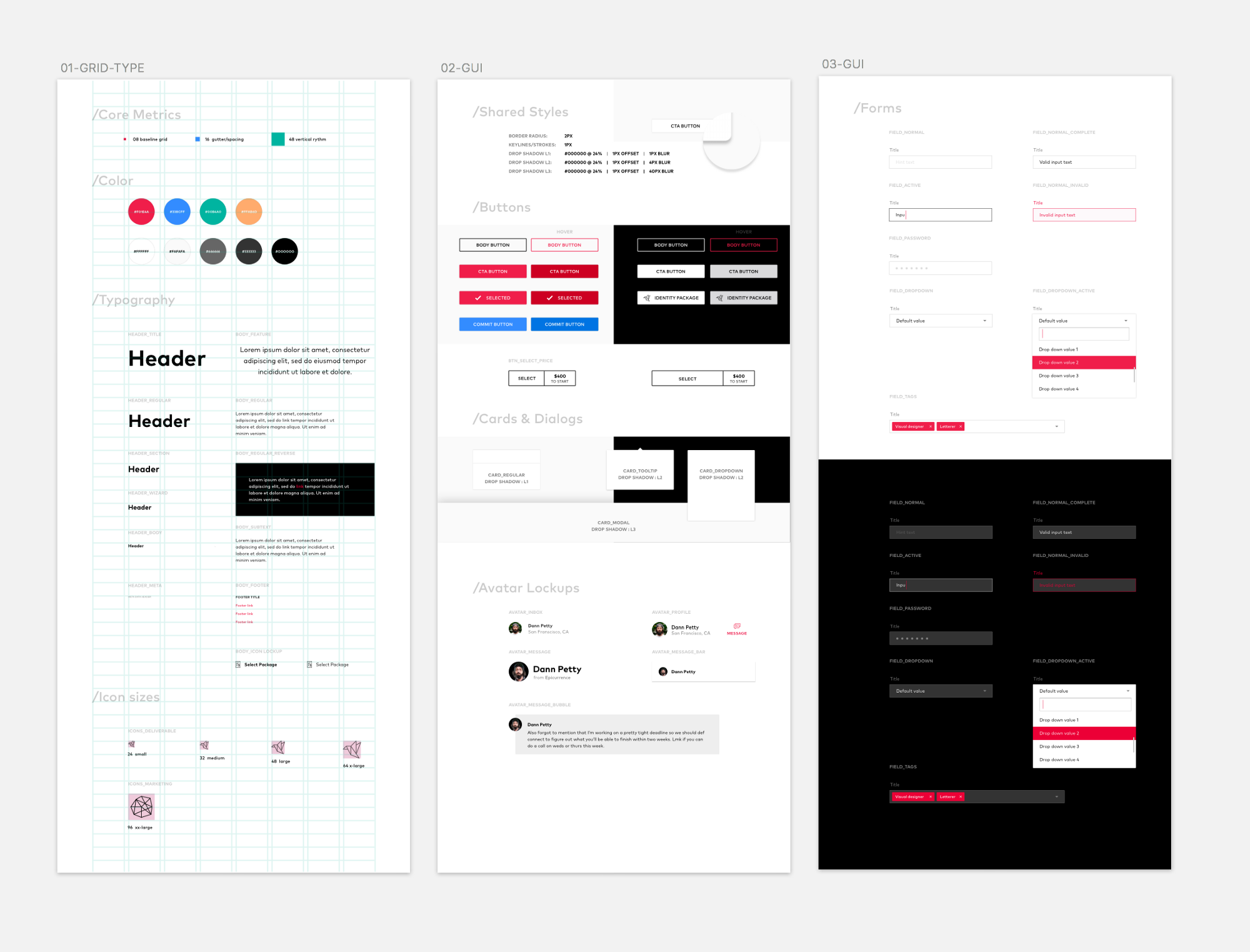 8pt Material Design GUI Templates – Medium