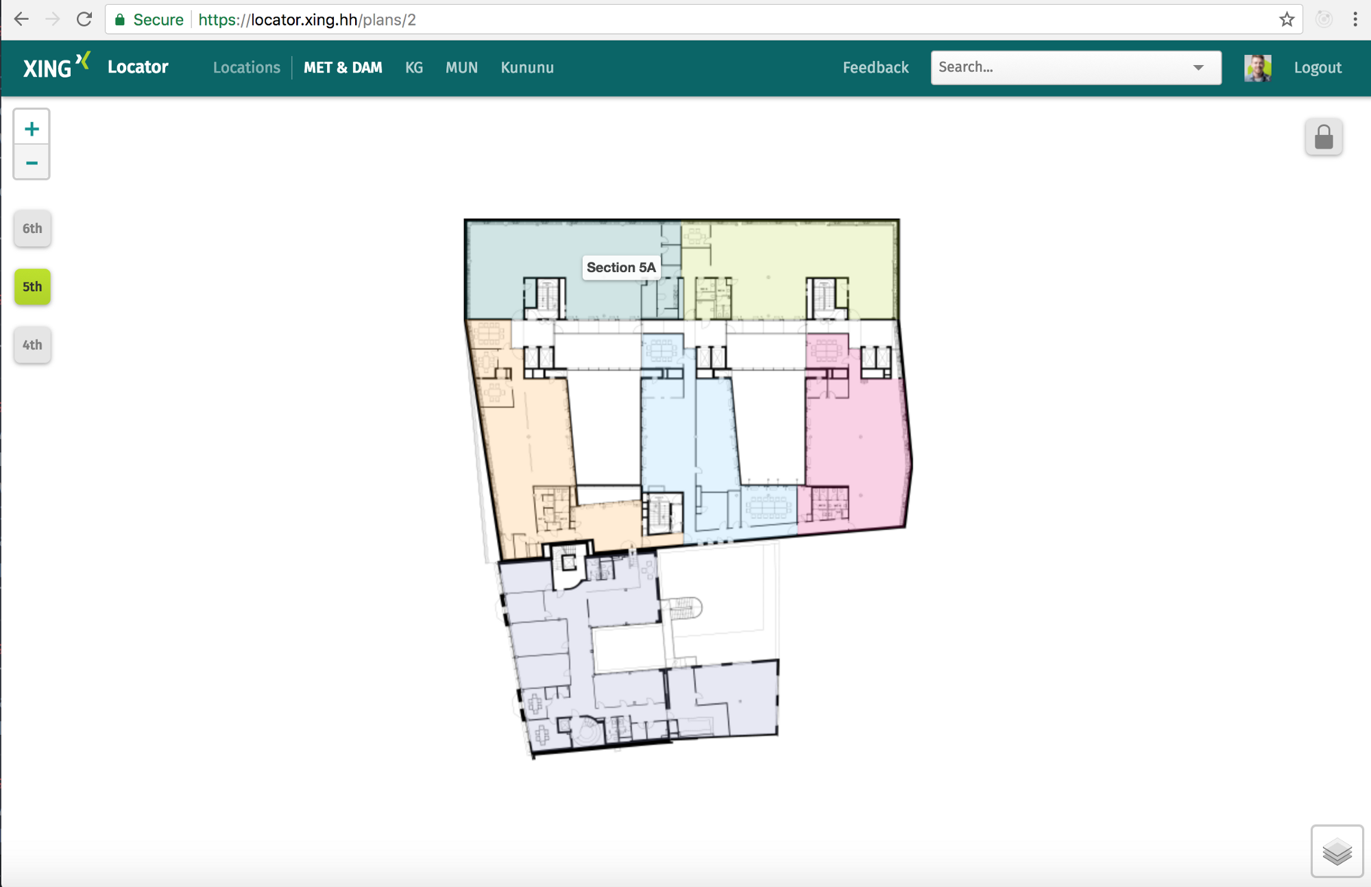 Xing locator an interactive floor plan using rails and for Interactive office floor plan