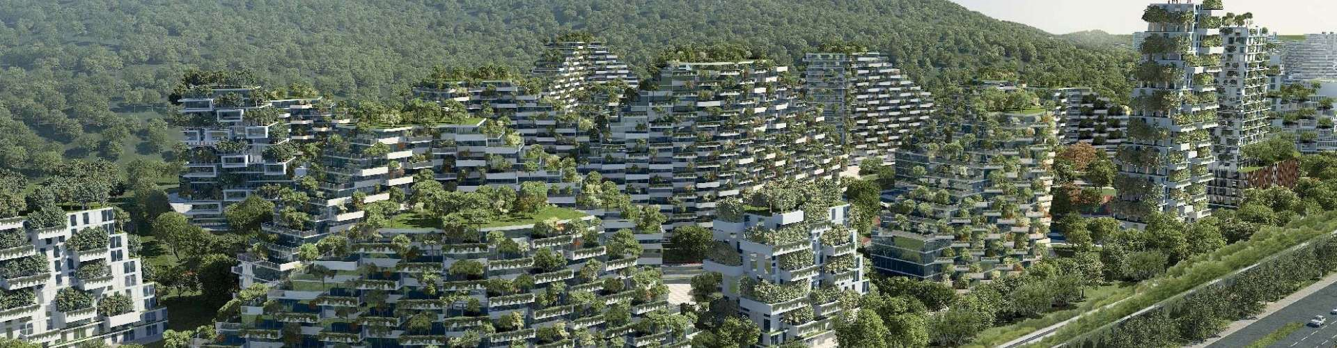 An architect s masterplan liuzhou will become a unique for Liuzhou forest city