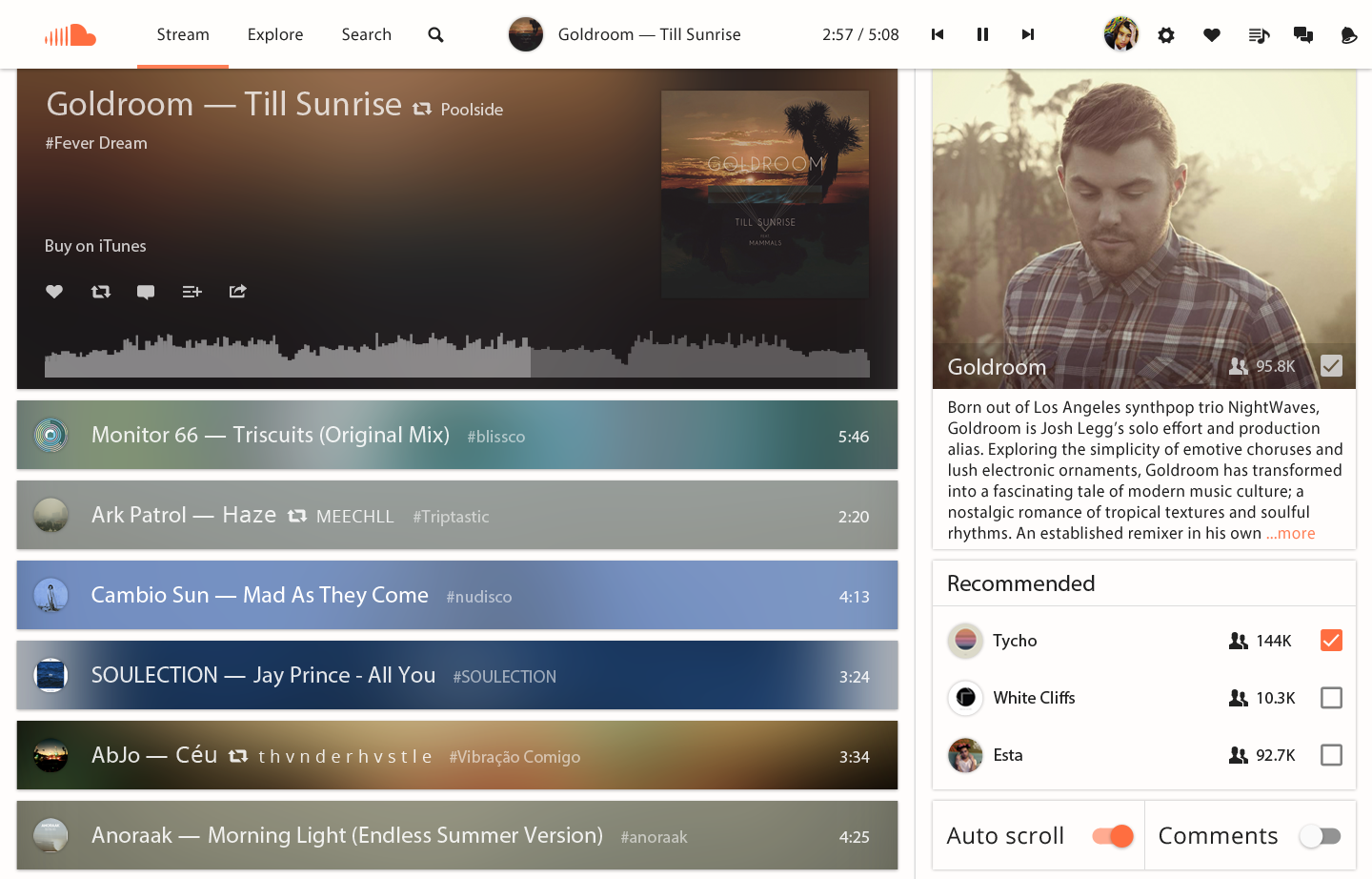 Redesigning SoundCloud