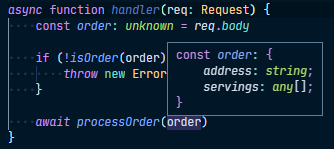 Inferred type for `order`