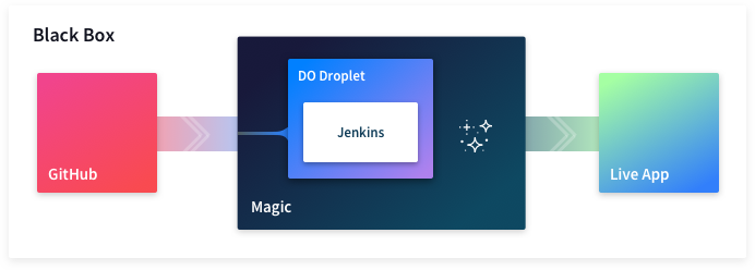 Black box diagram with Digital Ocean Droplet and Jenkins