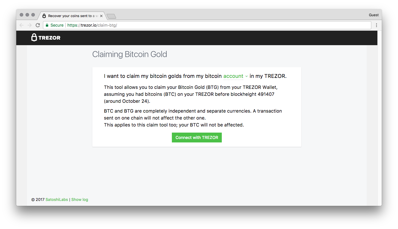 Ledger Nano And Bitcoin Gold Is My Trezor Updated To 160