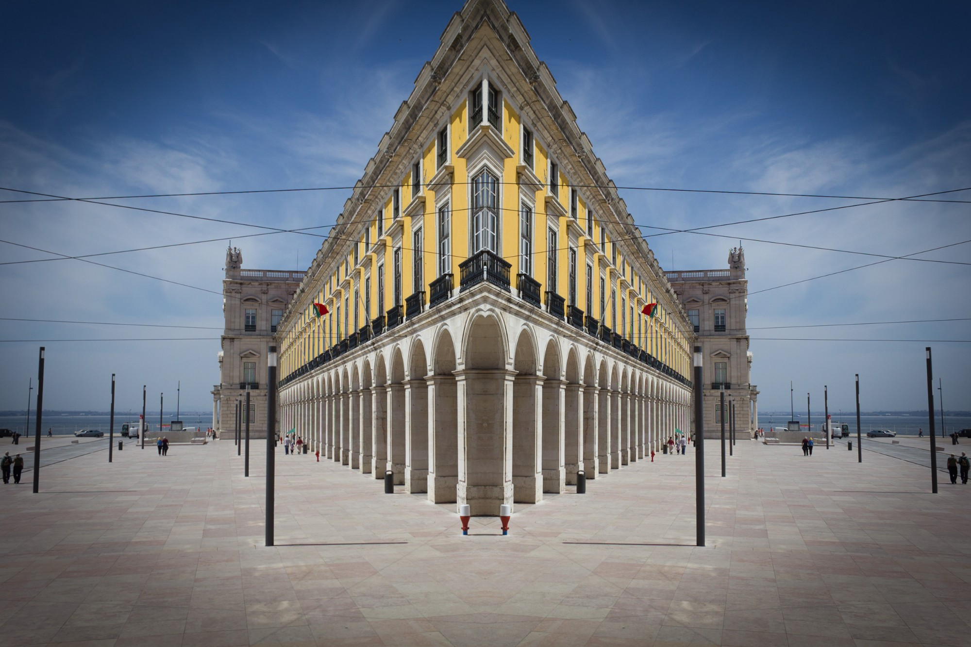 architectural photography with a symmetrical twist