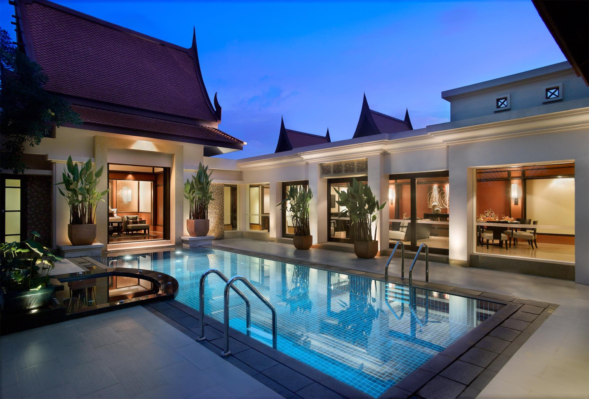 Banyan tree pool villa for Pool design villa