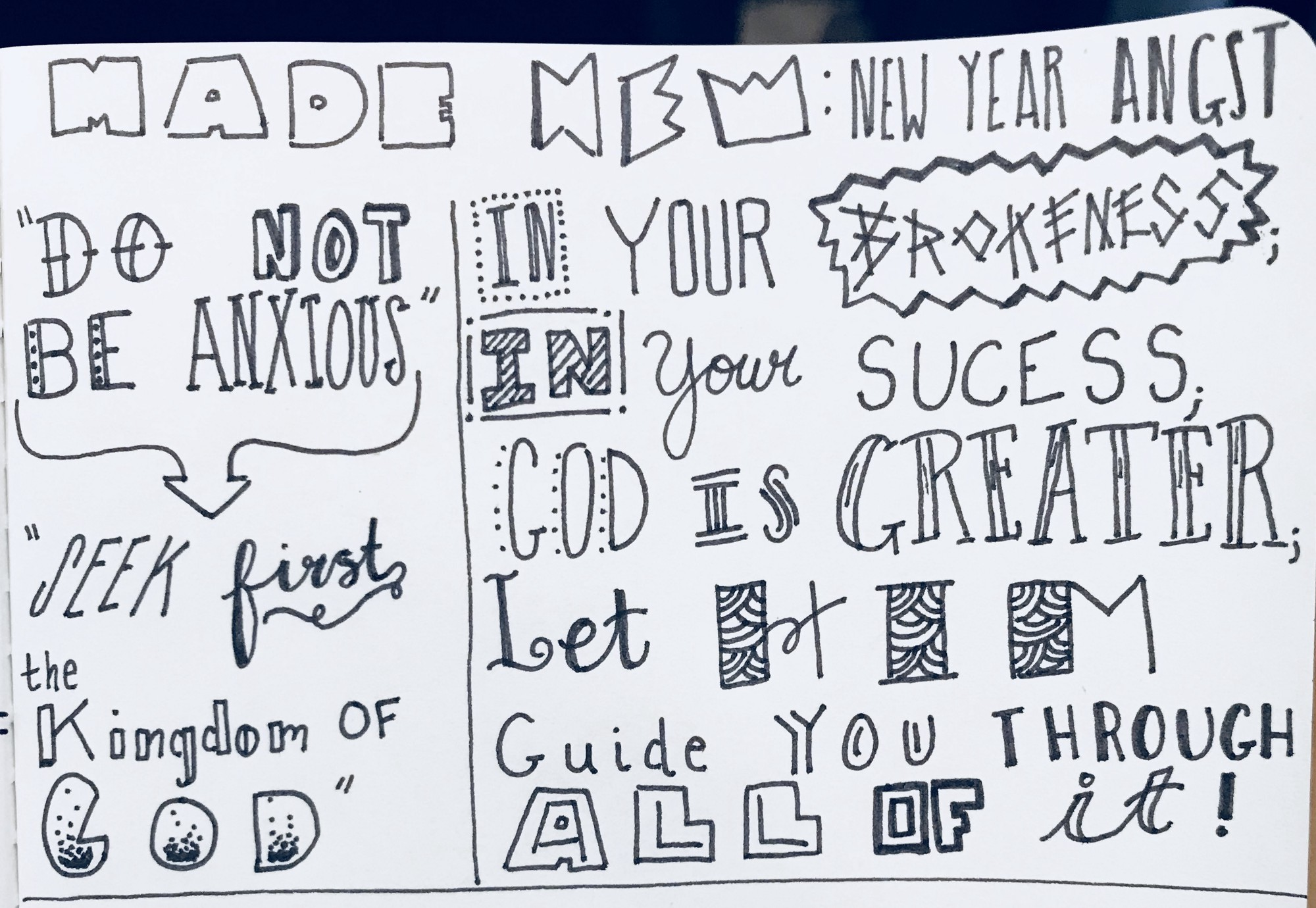 Sketchbook Devotional — Everyday Living in a New Year Year