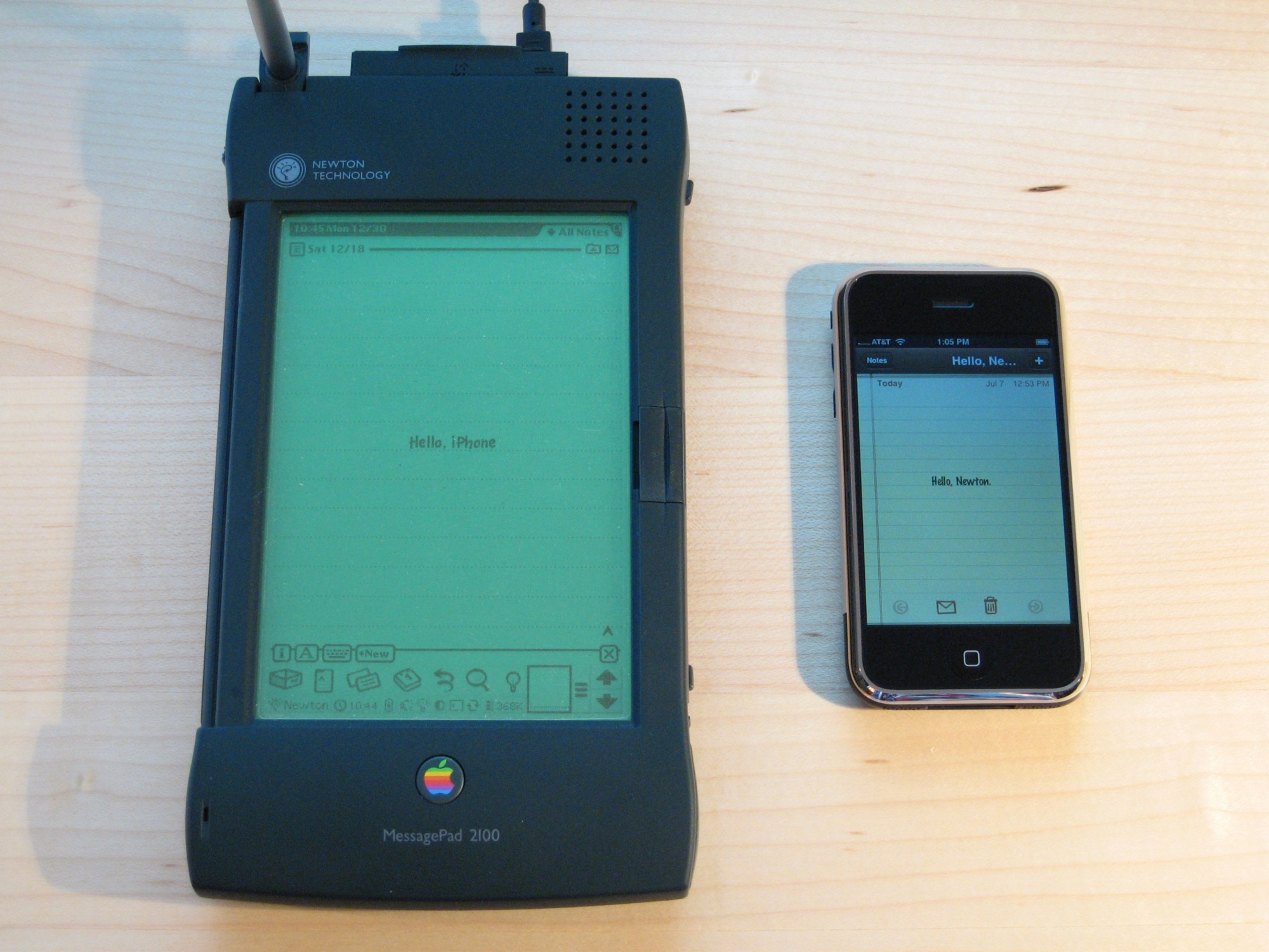 Newton And IPhone Source Flickr