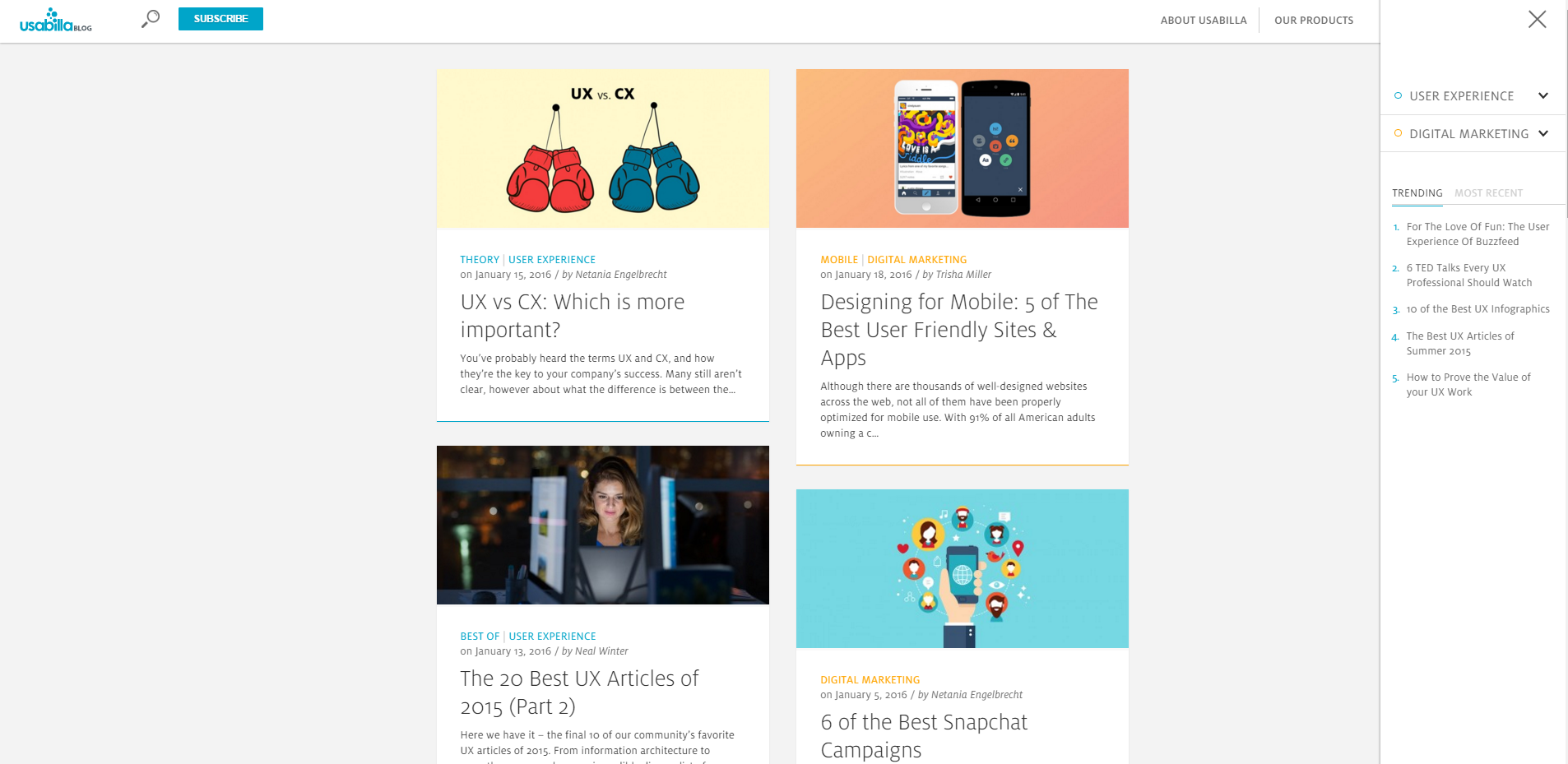 User experience design best sources to learn ux prototypr usabilla blog screenshot fandeluxe Image collections