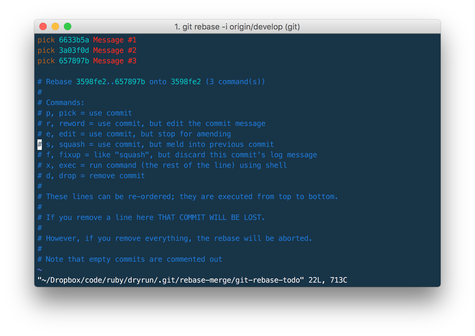 git move commit to another branch