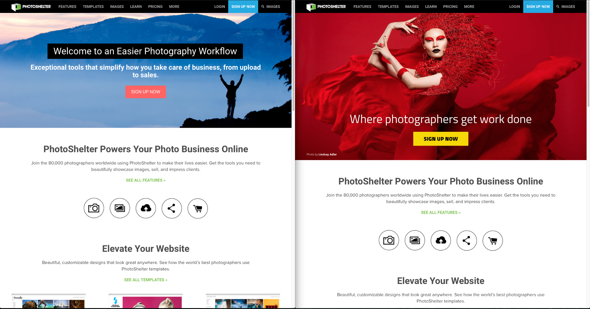 Building A Sharp New Look At PhotoShelter PhotoShelter Engineering - Photoshelter templates