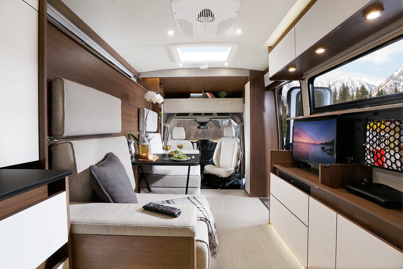 Entertainment On The Open Road Just Reached A Whole New Level With Oversized Chairs That Switch From Dinette To TV Mode Enjoy Shows And Movies