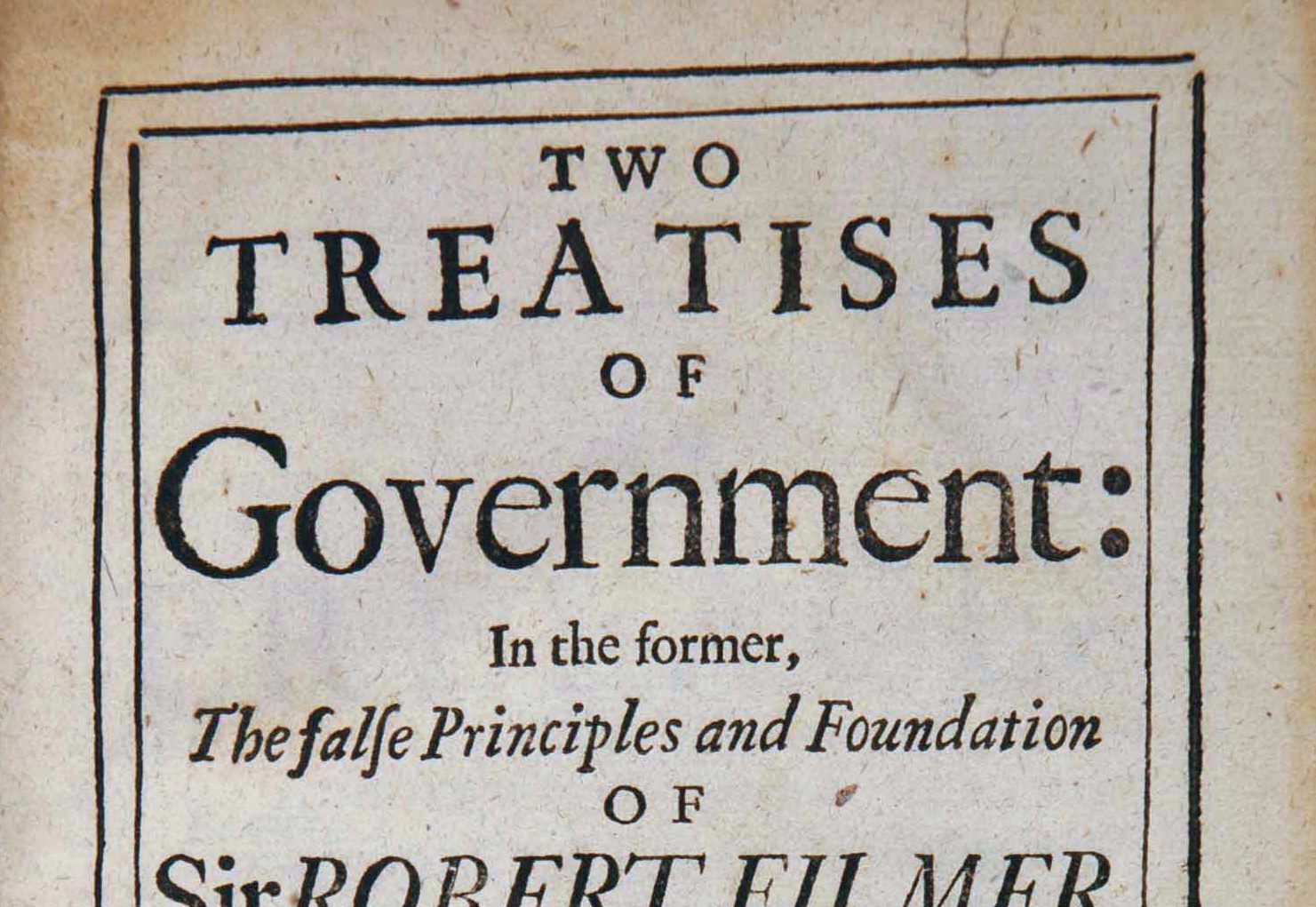 essays on the second treatise of government John locke and thomas hobbes have submitted competing versions of the state of nature in two treatises of government and  for his second, and most salient, treatise.