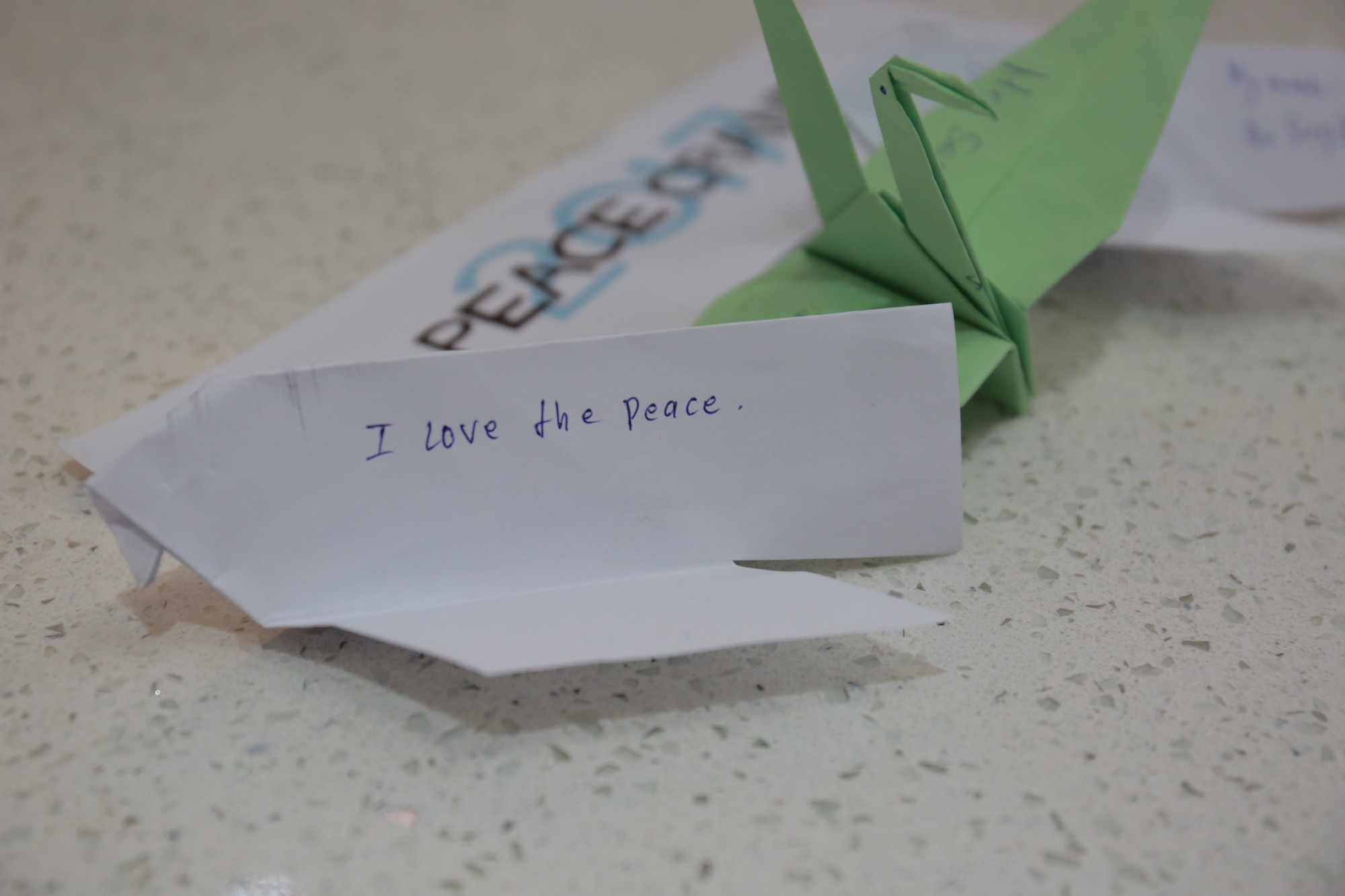 What does peace mean to you the peace crane project medium i love the peace crane from a student in siem reap cambodia jeuxipadfo Choice Image