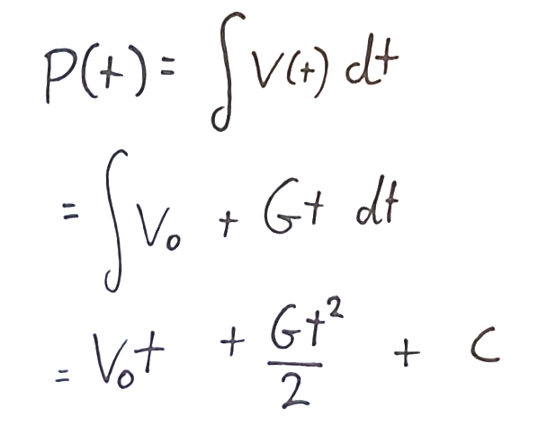 Integrating the previous equation
