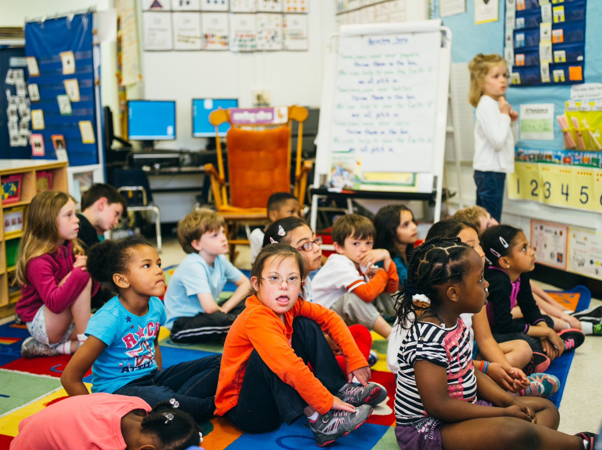 inclusion in the classroom What does it look like to include a child who might appear, learn, speak, and act differently from the average student in an everyday classroom environment.