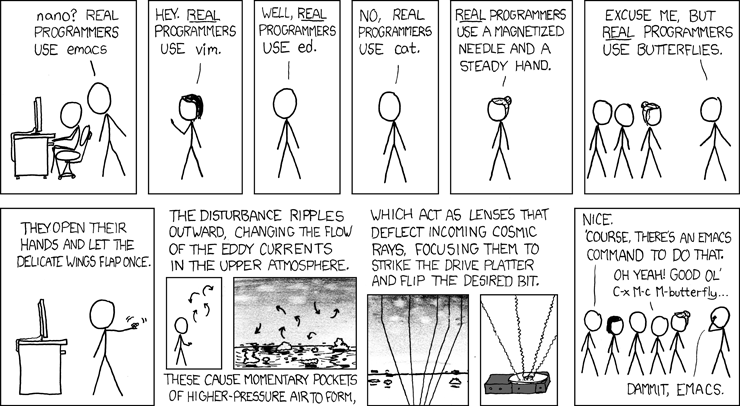You're not a REAL programming if you're not doing this #obvi (source: [https://xkcd.com/378/](https://xkcd.com/378/))