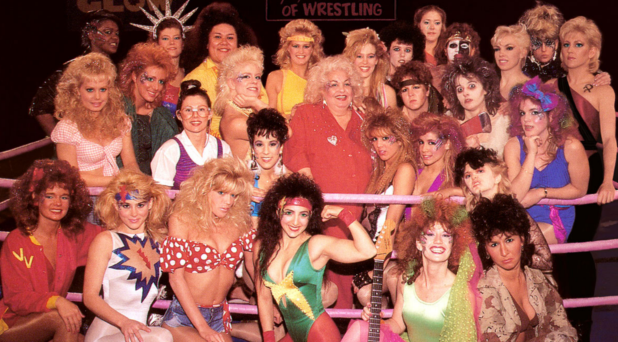 watch the raunchy appeal of glow the all female wrestling show