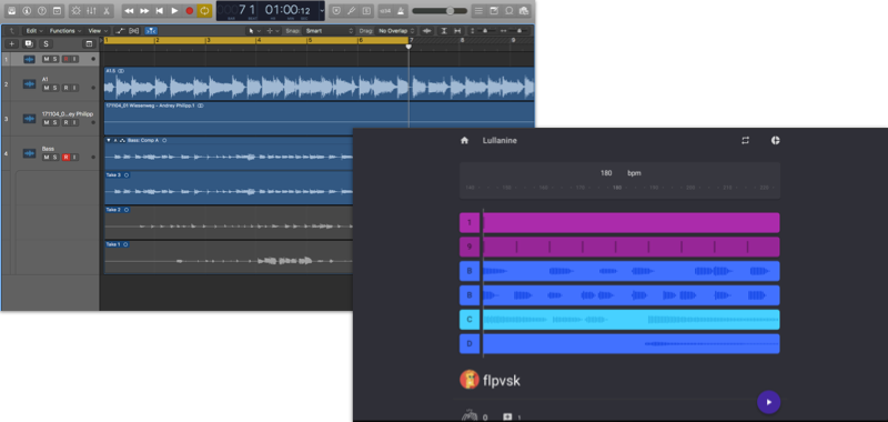 Logic (left) Polychops bar view (right)