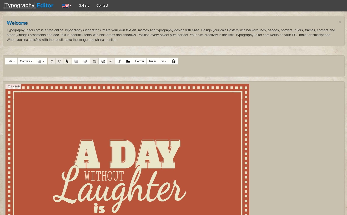 Typography Editor Is A Free And Online Tool To Make Typographic Posters Images