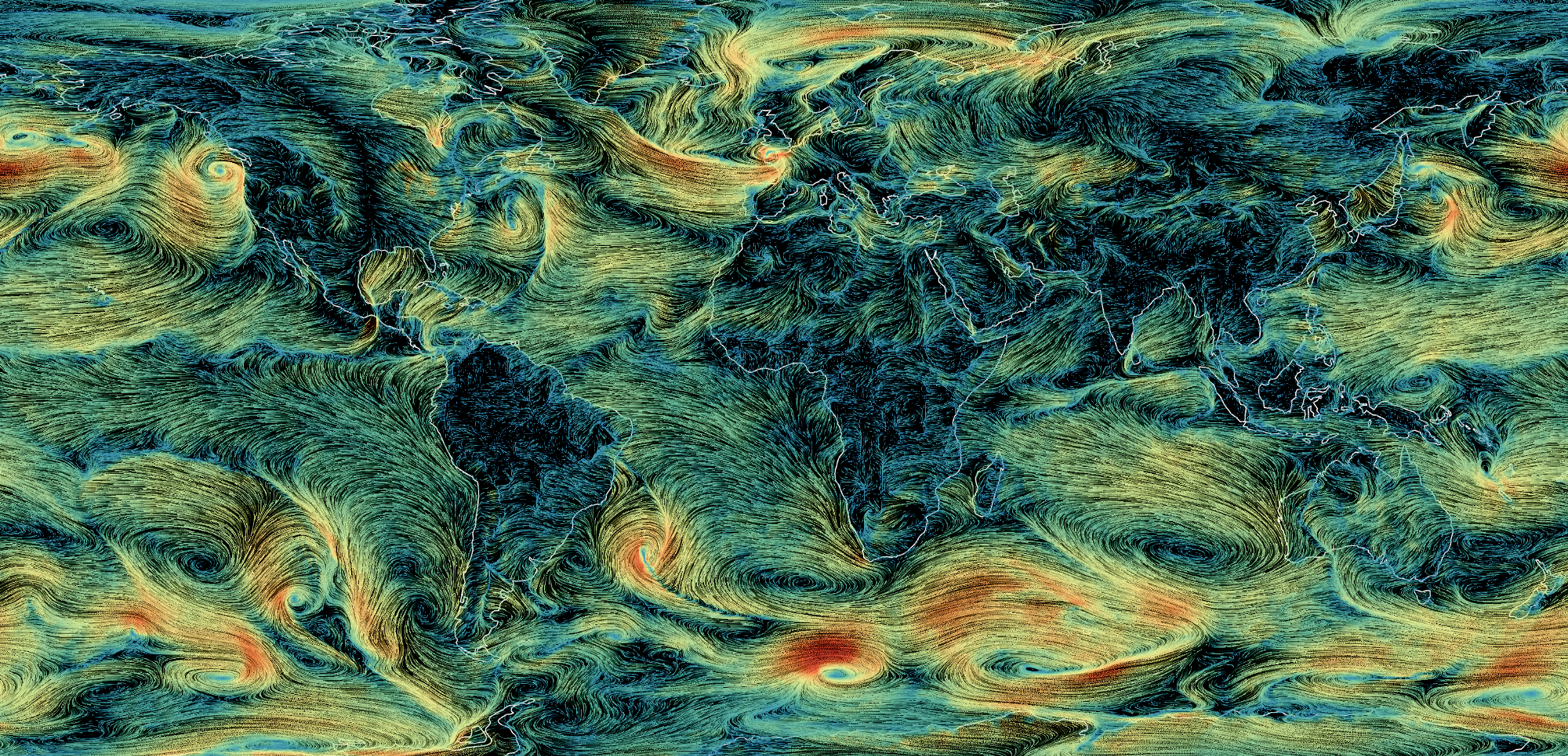 How I built a wind map with WebGL – Points of interest